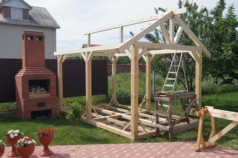 Строительство садовой беседки - фото 10