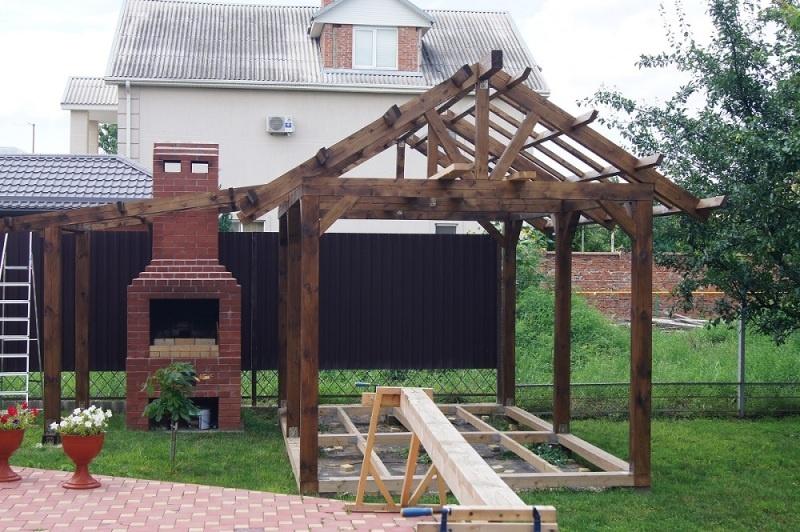 Строительство садовой беседки - фото 13