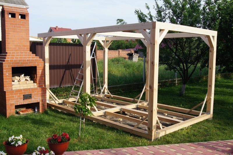 Строительство садовой беседки - фото 7