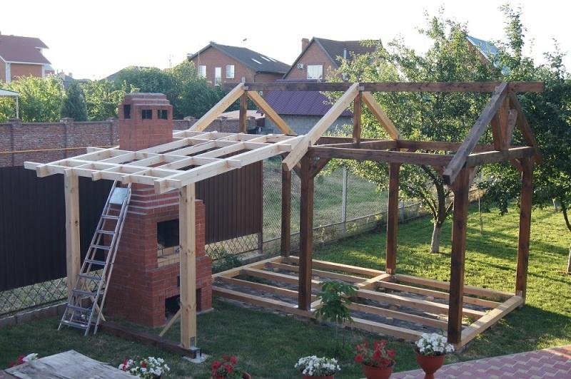 Строительство садовой беседки - фото 12
