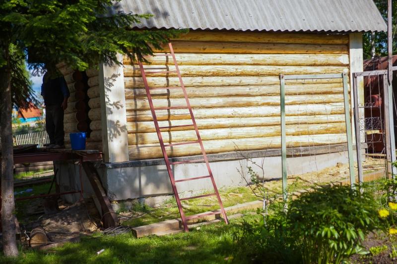 Загородная баня из старого сруба - фото 7
