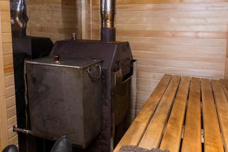 Загородная баня из старого сруба - фото 19