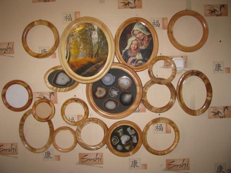 Изготовление круглых и овальных рамок из дерева и капа. - фото 2