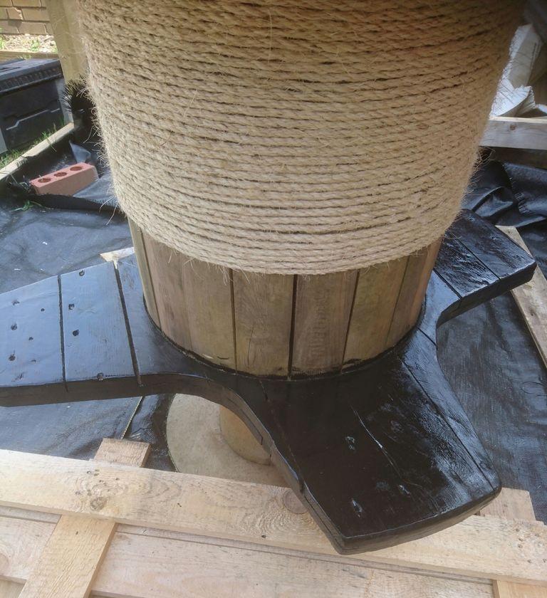 Стол из кабельного барабана. Пошаговая инструкция - фото 11