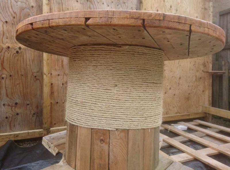 Стол из кабельного барабана. Пошаговая инструкция - фото 6
