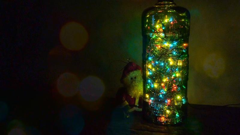 Сказочный светильник для новогоднего праздника. Как идеально просверлить бутылку. - фото 1