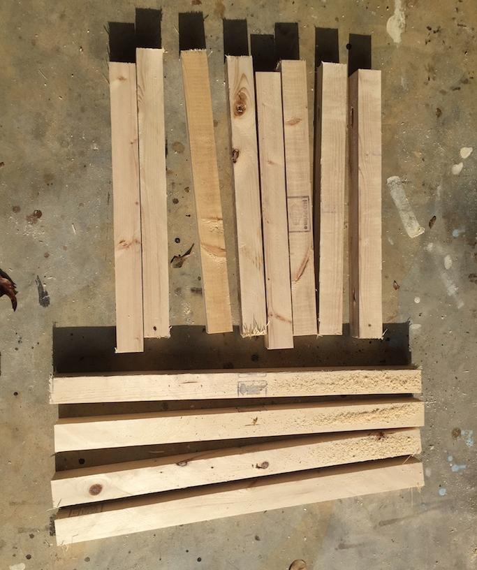 Тумбочка из деревянных обрезков - фото 5
