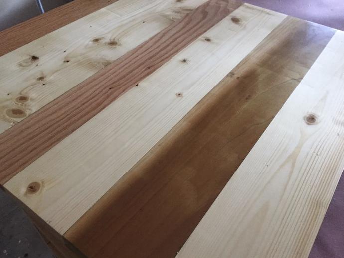 Тумбочка из деревянных обрезков - фото 6