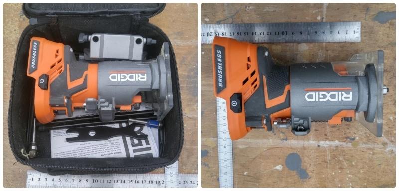 Обзор аккумуляторного кромочного фрезера AEG BOF 18 BL/ Ridgid 18V Brushless Compact Router  R86044B - фото 3