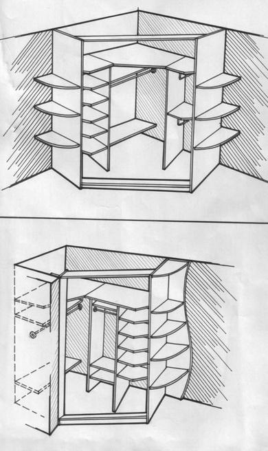 В чем преимущества встроенного шкафа - фото 5