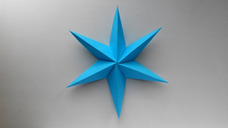 Звезда из бумаги. Оригами поделки   - фото 1