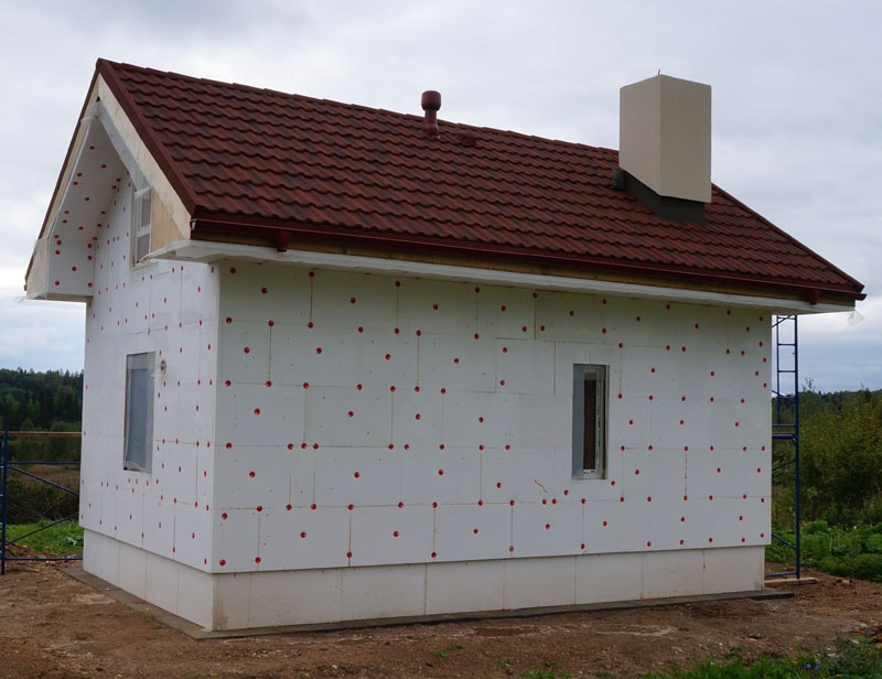 Построил ооочень тёплый каркасный гостевой коттедж, который выглядит как каменный. - фото 7