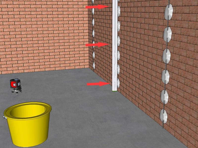 Как использовать лазерный уровень для штукатурки стен? - фото 12