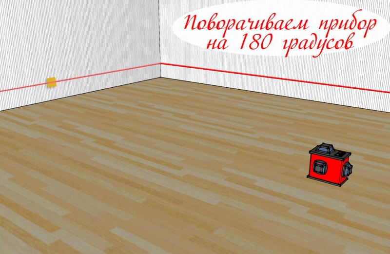 Проверка точности 3D лазерного уровня - фото 7