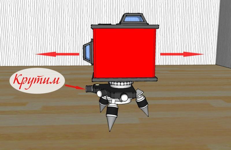 Проверка точности 3D лазерного уровня - фото 15