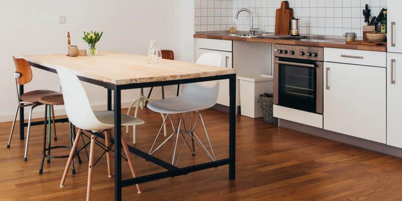 3 идеи для пола на кухне - фото 1