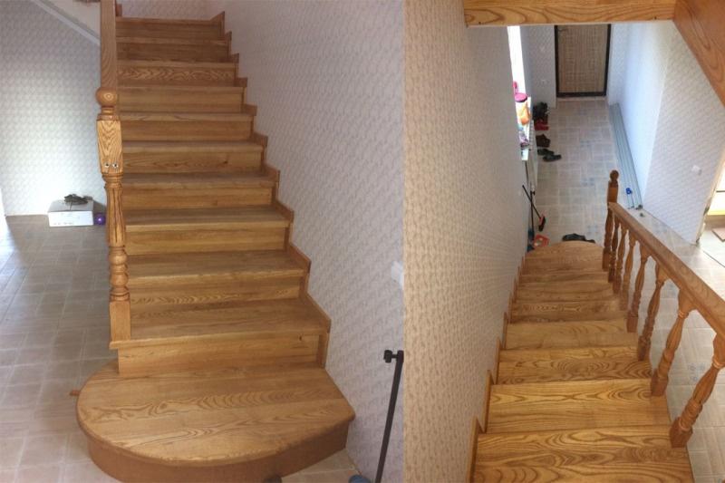 Лестницы из ясеня, покраска маслом. - фото 1