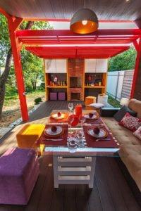 Садовая беседка с летней кухней. - фото 2