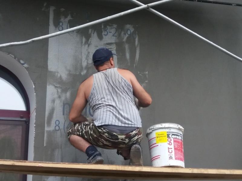 Как оштукатурить фасад каркасного дома, реальный каркасник в работе - фото 1