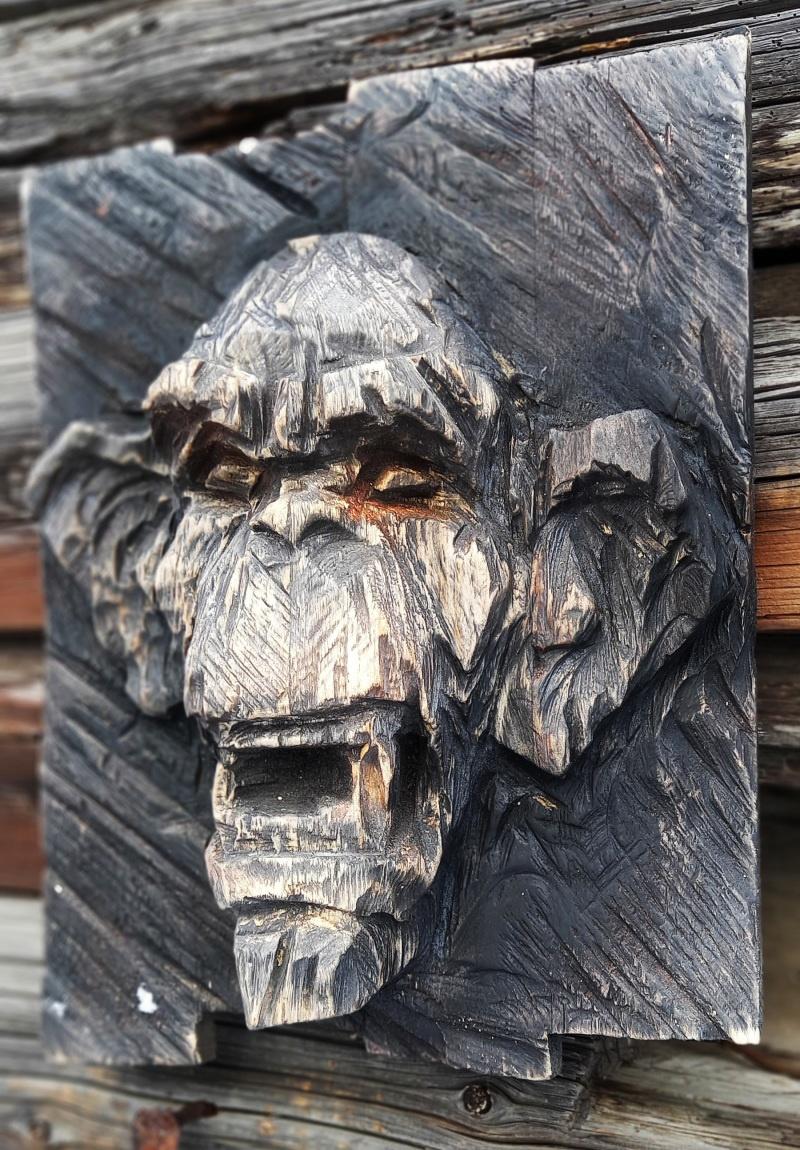 Деревянная скульптура.Резьба бензопилой. - фото 2